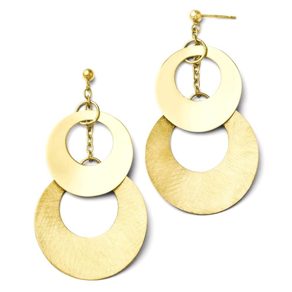 ICE CARATS 925 Sterling Silver 14k Gold Plated Post Stud Drop Dangle Chandelier Earrings Fine Jewelry Gift Set For Women Heart