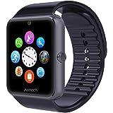 Antech G8 スマートウォッチ smart watch Bluetooth搭載 多機能腕時計 スマートデジタル腕時計 スマート ウォッチ Watch 健康 タッチパネル 着信お知らせ/置き忘れ防止/歩数計/高度計/アラーム時計 (ブラック)