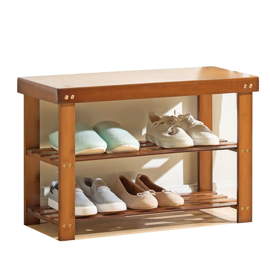 62MJ Shoe Rack Solid Wood Simple Can Sit Home Multi-Function Shoe Box Living Room Shoe Rack Change Shoe Bench (Color : 50CM) by 62MJ