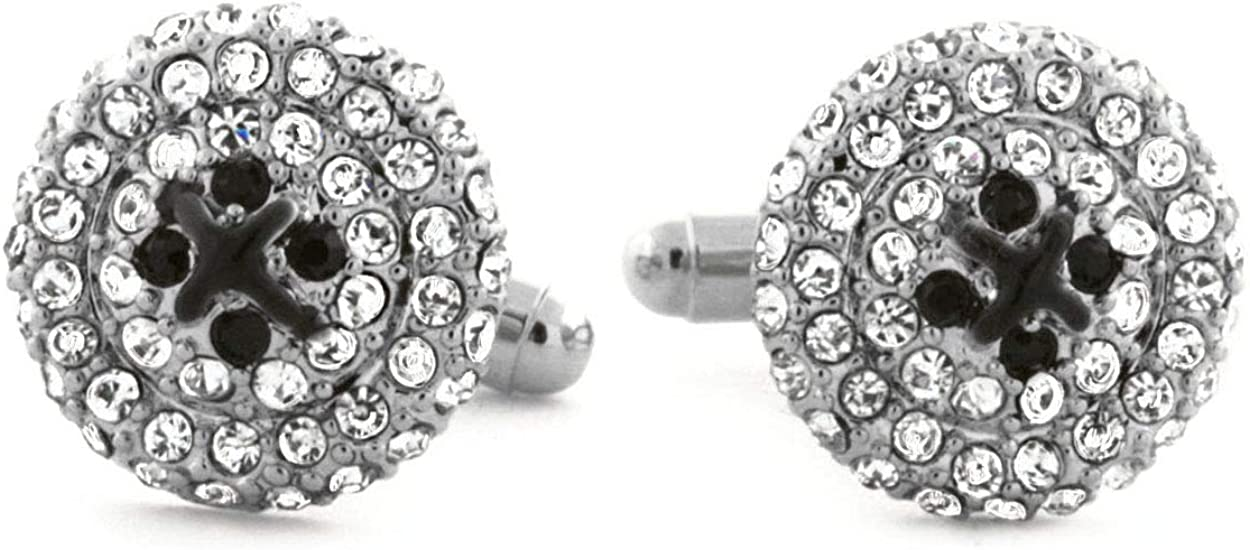 Premium French Formal Cuff Iced AAA Cubic Zirconia Cufflinks for Men and Boys