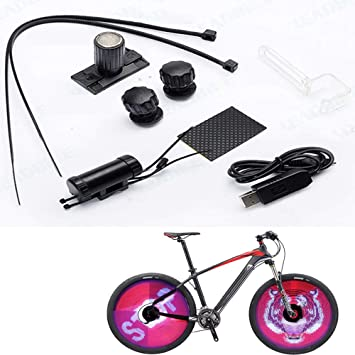 LAIYYI Ruedas de Bicicleta Luces LED Bicicleta Impermeable DIY ...