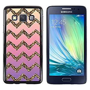 Impact Case Cover with Art Pattern Designs FOR Samsung Galaxy A3 Gold Bling Pattern Stripe Betty shop