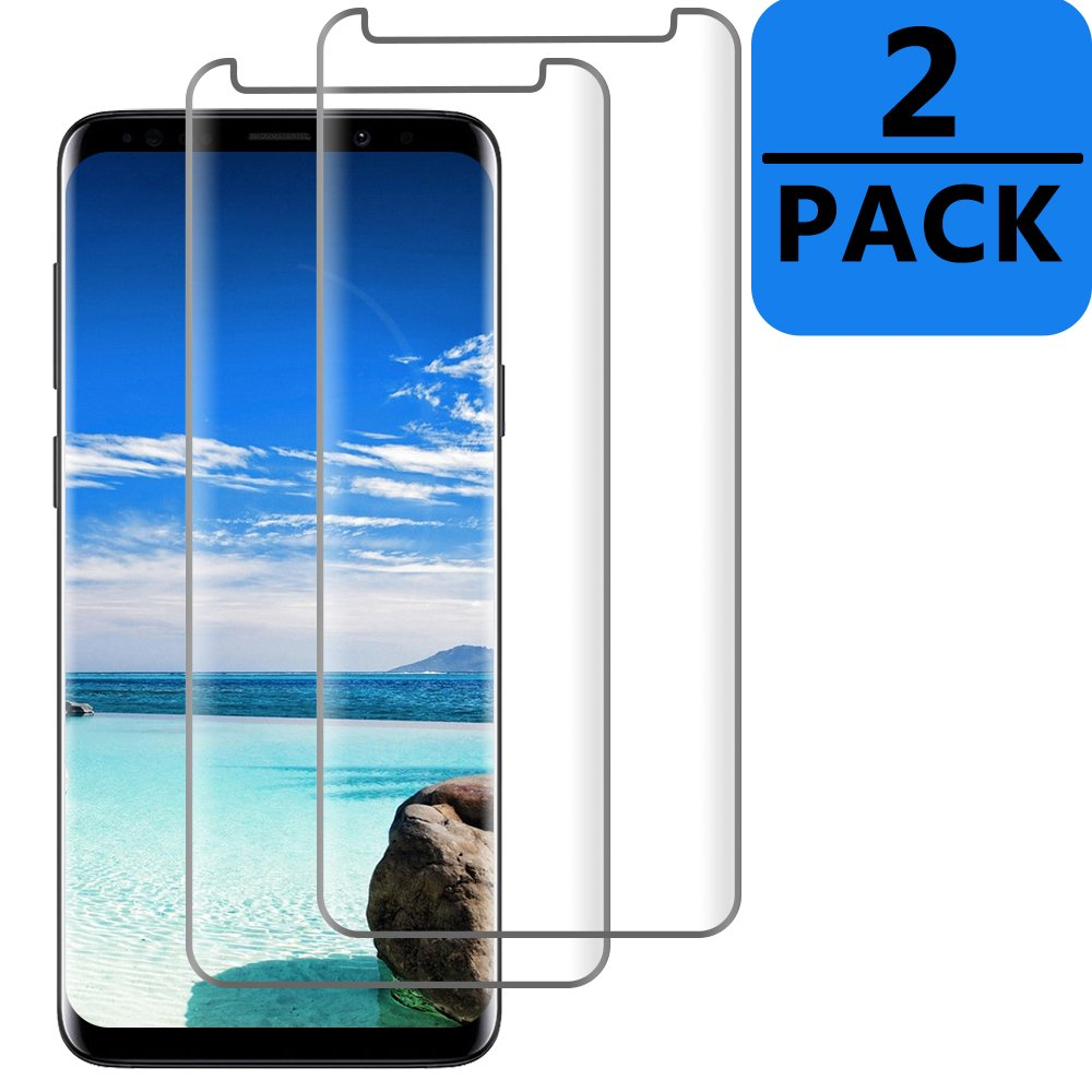 2 Pack TicTacTechs Galaxy S9 Tempered Glass Screen Protector [HD - Clear][Case Friendly][No bubbles] for Samsung Galaxy S9