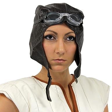 d7bb7881b81 Amazon.com  Aviator Cap   Goggles Bomber Hat Steampunk Pilot Costume ...