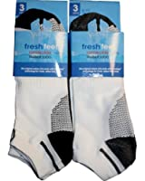 Mens Fresh Feel Trainer Socks M10517 Black or White
