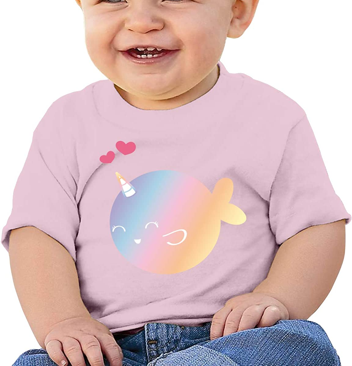 Narwhal Unicorn Baby Girls 100/% Cotton T-Shirt Toddler