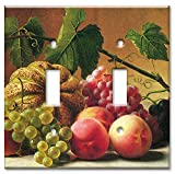 Art Plates - Hetzel: Fruit Still Life Switch Plate - Double Toggle