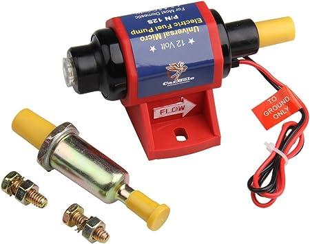 4-7 PSI 12V Universal Micro Electric Fuel Transfer Booster Gasoline Pump 35 GPH