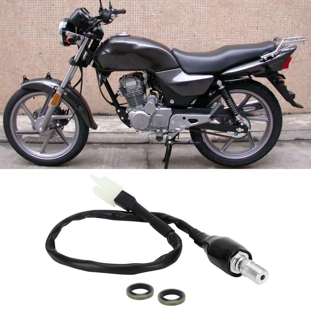 gerader Kopf M10x1.0 Universeller hydraulischer Bremsschalter Motorrad/ölschlauch Hydraulikpumpe Verst/ärkter hinterer Bremslichtschalter Hydraulischer Bremsschalter