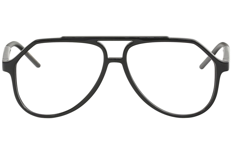 Dolce /& Gabbana Mens Eyeglasses D/&G DG5038 DG//5038 501 Black Optical Frame 56mm