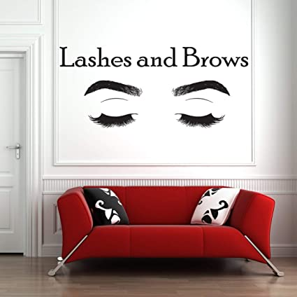 ChloeLew778 Eyelashes Makeup Quote Lashes Decor Mascara Decal Beauty Salon Cosmetics Microblading Make up Wall Art