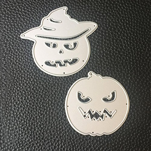 Lanhui_New!!! Happy Halloween Exquisite Metal Cutting Dies Stencils Scrapbooking Embossing DIY Crafts (F) - Cute Happy Halloween Wallpaper