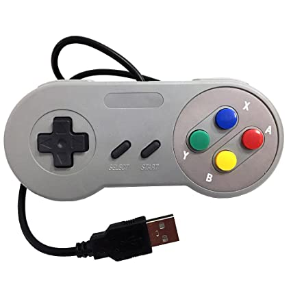 Old Skool SNES USB Controller Super Nintendo USB for PC and Mac