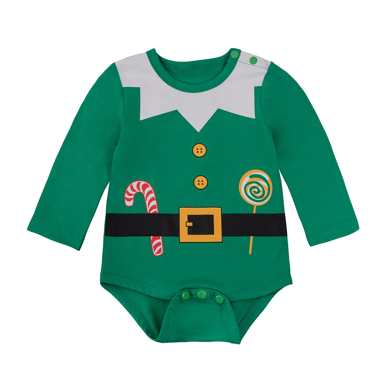 baby bodysuit christmas elf