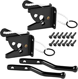 Skelang Self Locking Gate Latch, Automatic Gate Latch, Gravity Lever Gate Latch for Securing Wooden, Vinyl Fence, Small Gate of Garden, Yard, Patio, Pool, Pack of 2