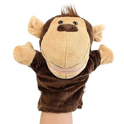 TOYMYTOY Marionetas de mano peluches animales Títeres de mano Juguete (Mono)
