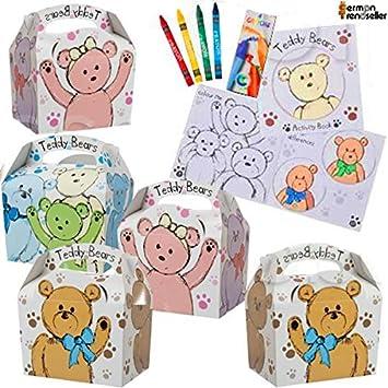 German Trendseller® - 8 x cajitas de cumpleaños ┃motivo oso ...