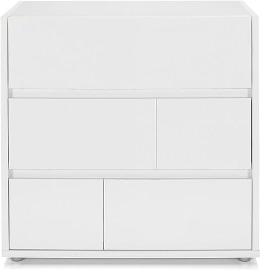 sensation de confort officiel vente à bas prix Alinéa Vision Commode Blanche à 3 tiroirs Blanc 81.6x78.4x48 ...