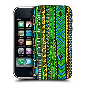 Head Case Designs Green Aztec Doodle Hard Back Case Cover for Apple iPhone 3G 3GS