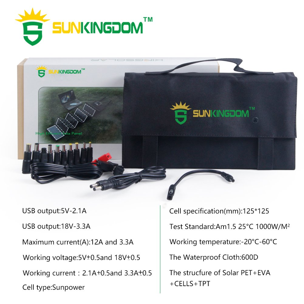 60 Watt Solar Ladegerät mit 18 V und 5V USB / Bild: Amazon.de