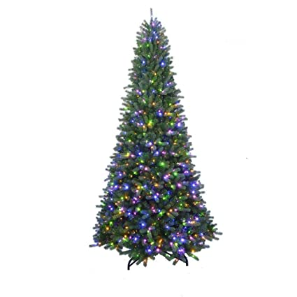Pre Lit Christmas Tree That Puts Itself Up.7 Ft To 10 Ft Led Pre Lit Adjustable Rising Artificial Spruce Christmas Tree