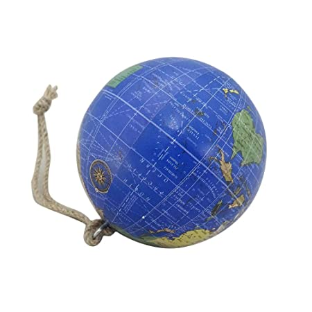 Decorative indian globe ball hanging blue world map 3 ball vintage decorative indian globe ball hanging blue world map 3quot ball vintage style plastic material handmade gumiabroncs Images