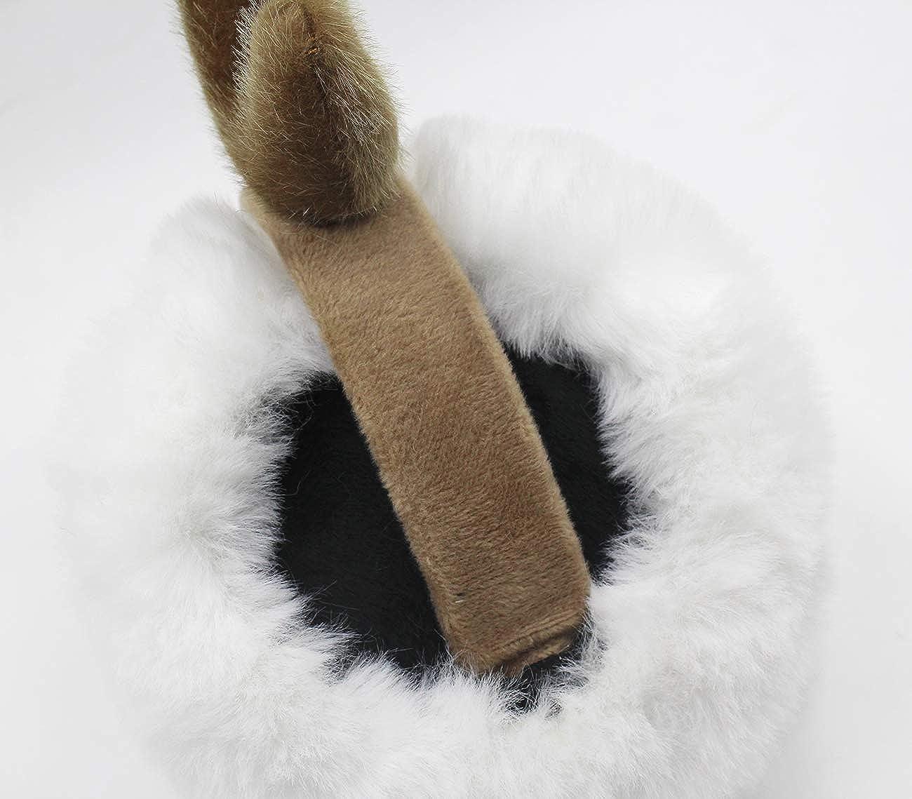 Aibearty Foldable Women Winter Ear Muffs Cute Elk Deer Ear Warmer Soft Plush Earmuffs