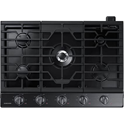 354efeedc Image Unavailable. Image not available for. Color  Samsung 30 quot   Fingerprint Resistant Black Stainless Steel Gas Cooktop