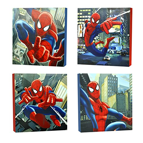 Metallic Canvas - Marvel Spider-Man Canvas Wall Art (4-Piece)