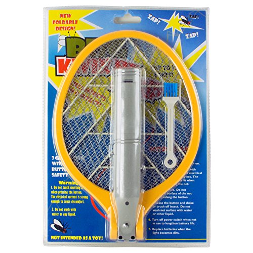 1PK - Foldable Fly Swat Wasp Bug Mosquito Swatter Zapper 2AA Battery