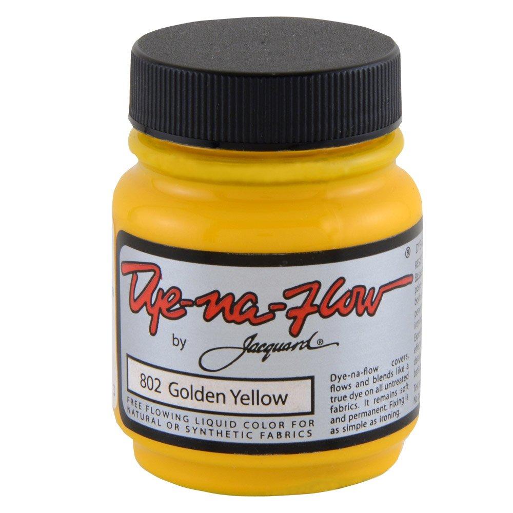 ジャカード色素 Na 流れ液体色 2-1/4 オンス ゴールデン イエロー   B0009IG110