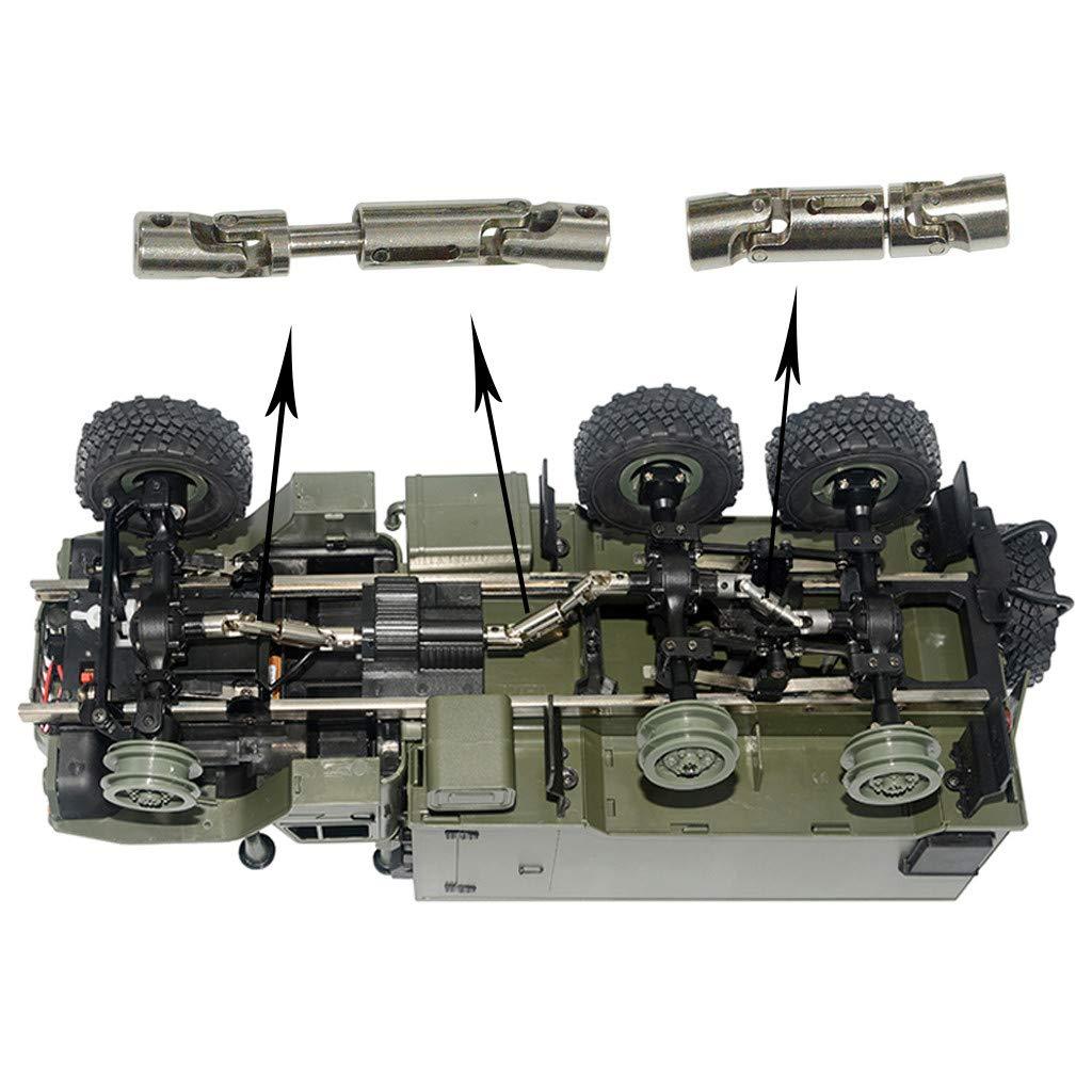 3 Pezzi Upgrade Parti Argento Metallo Albero Motore per WPL B-36 B-16 6WD 1//16 RC Crawler Auto Accessori
