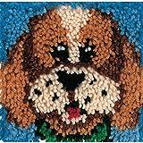 "Wonderart Puppy Latch Hook Kit, 8"" X 8"""