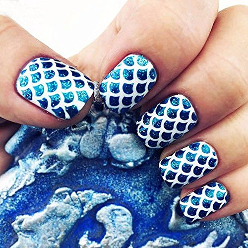 utda.sh-fs women's nails 24 Sheets Crystal Irregular Grid Stencil Round Nail Art Mixed Flat Backs Rhinestones Gems (A)