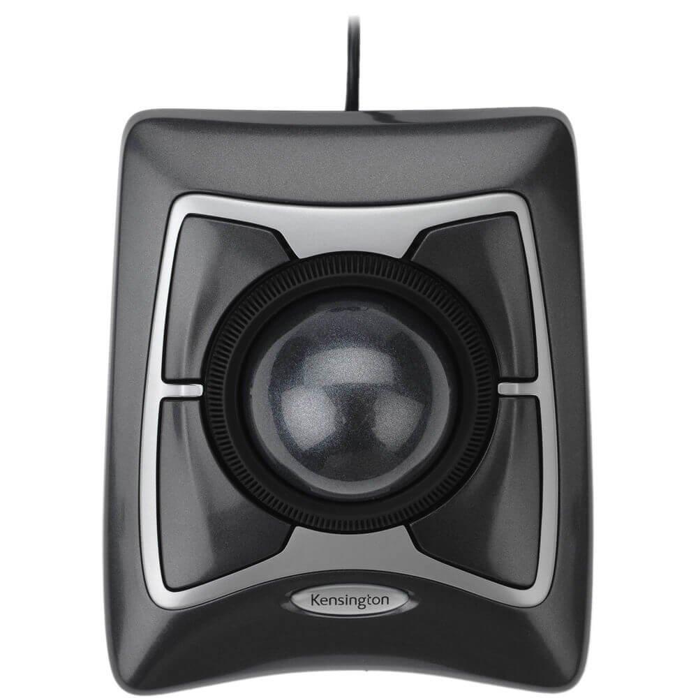 Kensington Trackball Expert Mouse, ScrollRing, Black/Silver