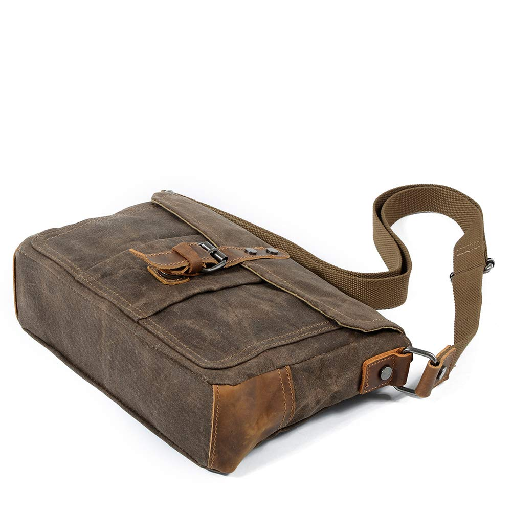 YZ-Hb One-Shoulder Casual Oil Wax Canvas Messenger Bag Outdoor Travel Hiking Multipurpose Backpack for Men