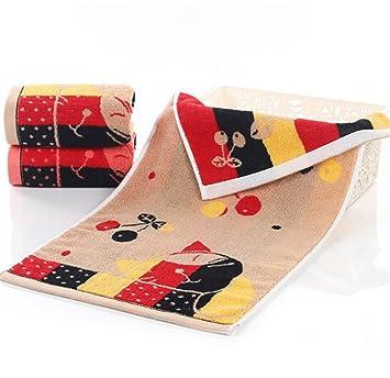 Packs para bajo precio Pack Toallas de mano de algodón cereza Cat 35 * 75 cm Rizo cara Toalla de mano, marrón, 4er/Pack: Amazon.es: Hogar