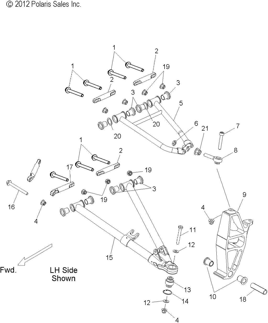 Polaris ASM-SPINDLE,LH MTRC,RMK BLK