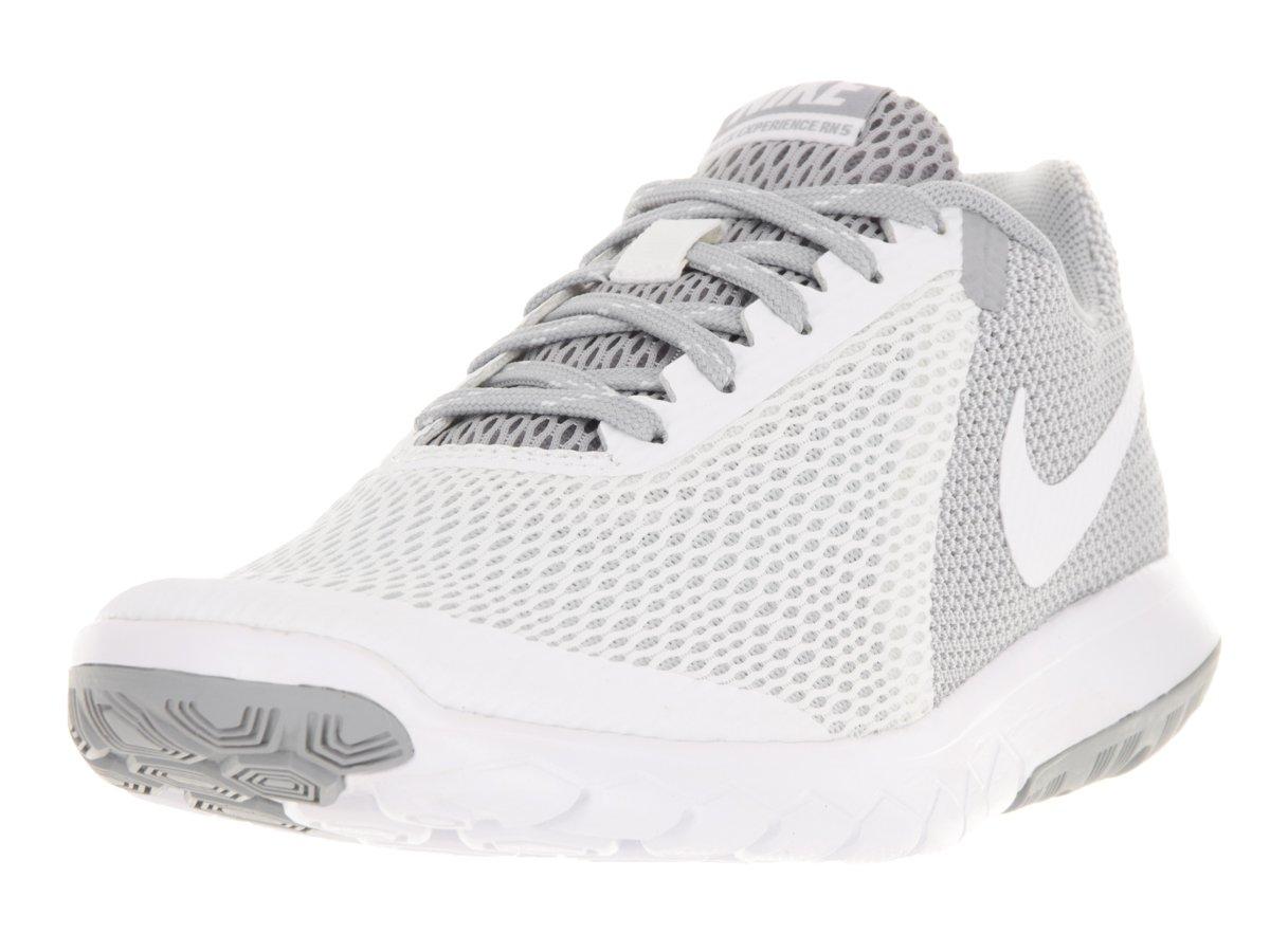 NIKE Womens Flex Experience RN 5 Running Shoe White/White/Wolf Grey 7.5 B(M) US