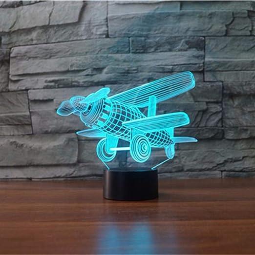 Lámparas LED 3D cerca de luz, 7 colores, control táctil/control ...