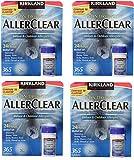Kirkland Signature Non Drowsy Allerclear Loratadine Tablets, Antihistamine, 10mg, 4 Units (365 Count)