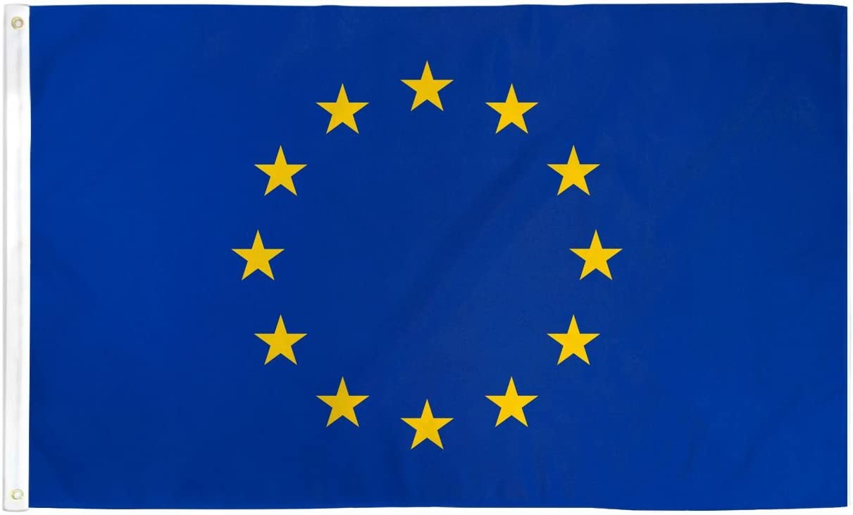 3/'x5/' European Union Flag Outdoor Indoor Banner New Polyester EU Brussels 3x5