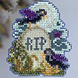 Tombstone Beaded Counted Cross Stitch Ornament Kit MH183203 Mill Hill 2013 Autumn Harvest