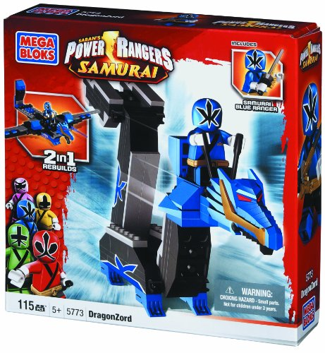 Mega Bloks Power Rangers Super Samurai DragonZord with Samurai Blue Power Ranger