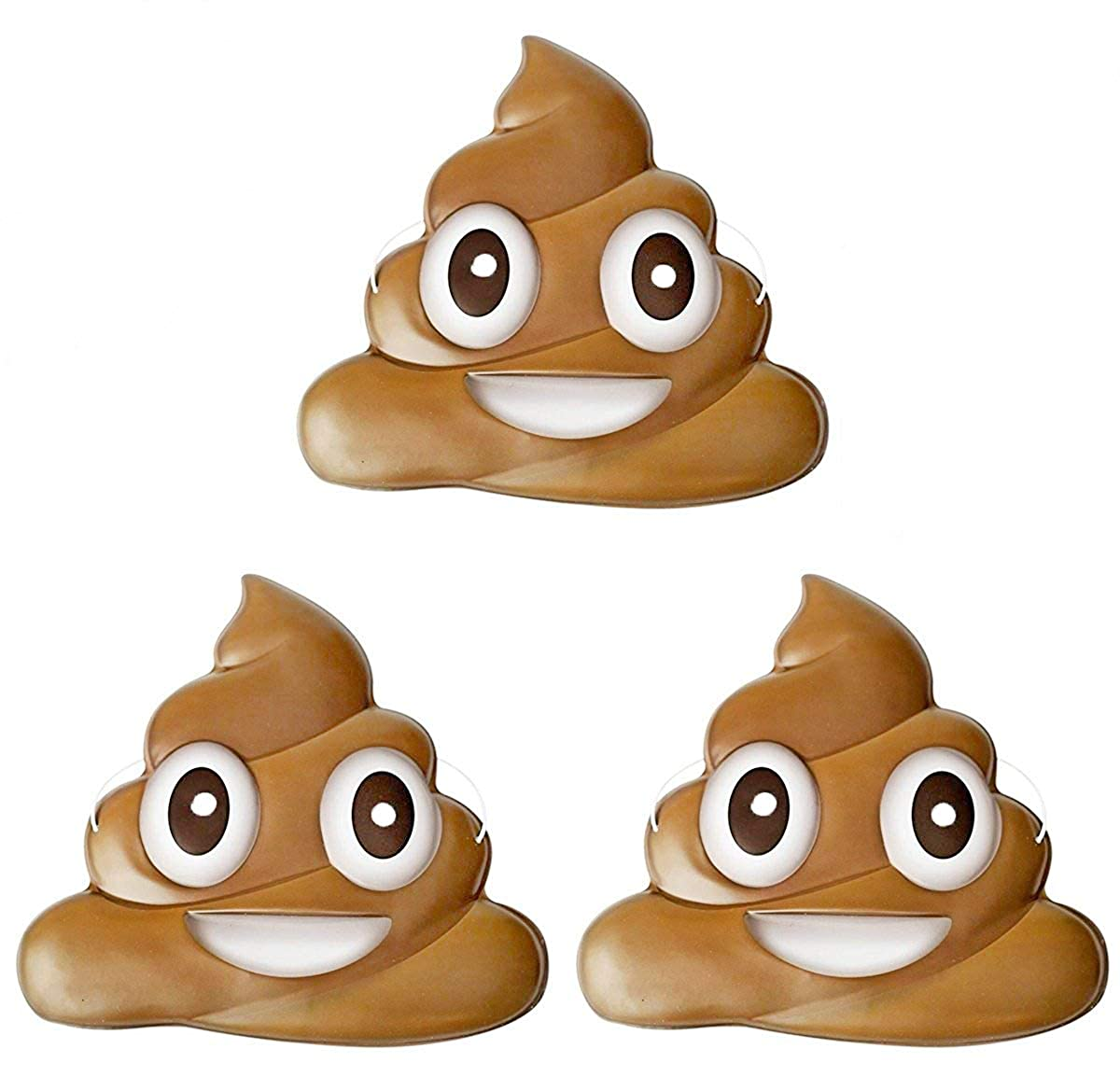 Dubster Brand Poop Emoji Party Supplies Costume Mask Pack of 10
