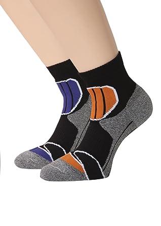Sneaker Socken Trekking Socken für Herren und Damen Kurzschaft mit PLÜSCHSOHLE Sportsocken Joggingsocken, 2 oder 4 Paar