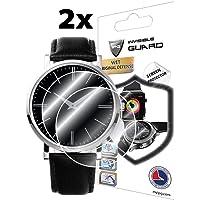 IPG Tüm Yuvarlak Camlı Saatler için Ekran Koruyucu Koruyucu (2 adet) (46 MM)