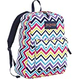 JanSport Superbreak Backpack- Sale Colors (Multi Saucy Chevron)