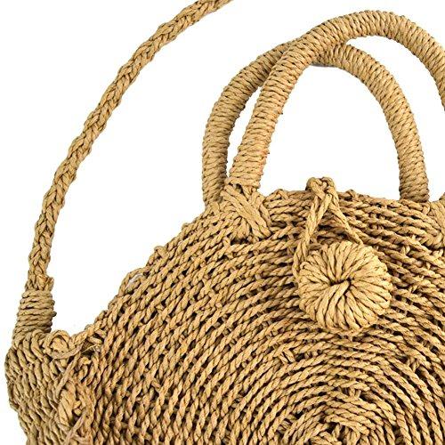 regalo nbsp;Bolso fancylande de Mujer ideal bandolera niña viaje Paja pajita redondo de bolsa vacaciones redondo Bolso playa nbsp;– para saco mujer 0AP50wrxnT