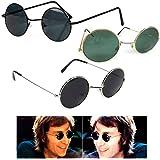 John Lennon Sunglasses Round Hippie Shades Retro Smoked Lenses 60's Metal Wire